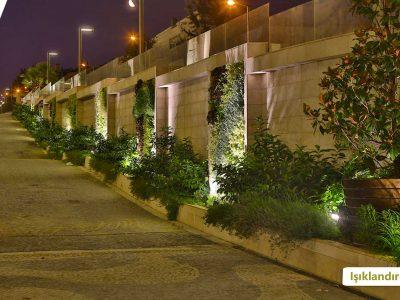 Koru Florya Rezidans Araba Yolu Işıklandırma