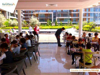 Koru Florya Rezidans çocuklar Santranç oyunu