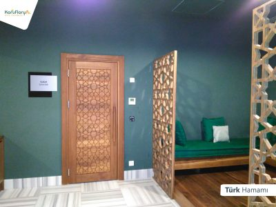 Koru Florya Rezidans türk hamamı girişi