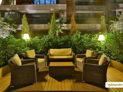 Koru Florya Rezidans Bahçe Işıklandırması