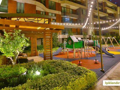Koru Florya Rezidans Park Işıklandırması