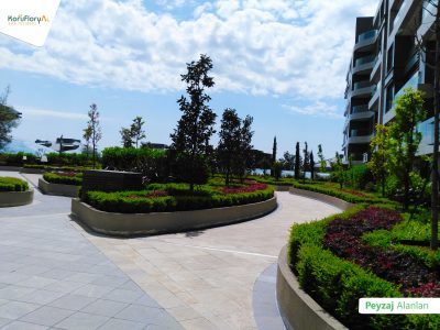 Koru Florya Rezidans peyzaj bahçe tasarımı