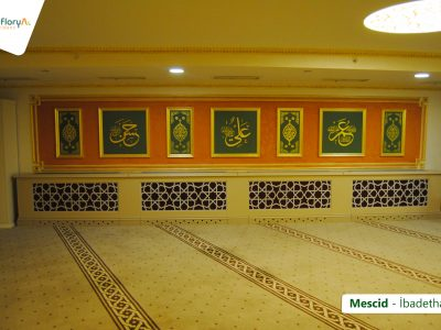 Koru Florya Rezidans mescid iç görüntüsü