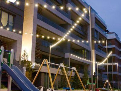 Koru Florya Rezidans oyun parkı ışıklandırması
