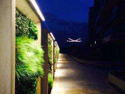 Koru Florya Rezidans peyzaj ışıklandırması